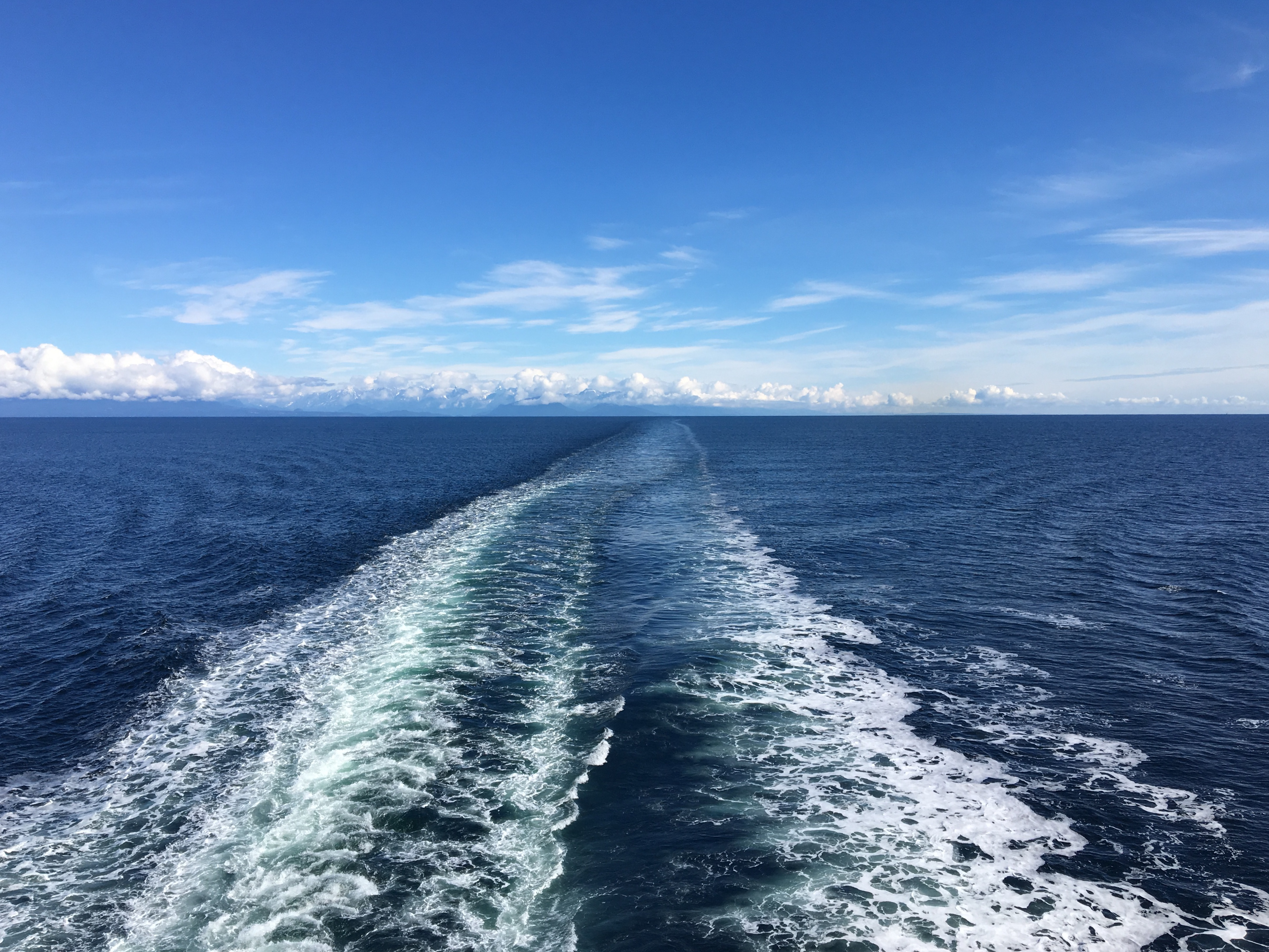 Ocean ferry wake
