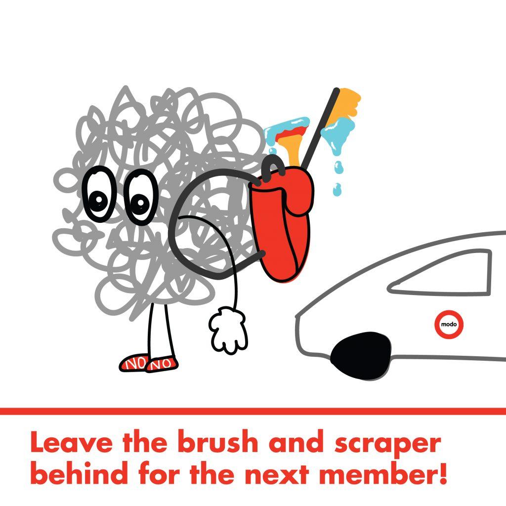 Modo Winter brush and scraper